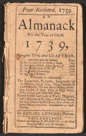 historia del marketing de contenidos almanack benjamin franklin